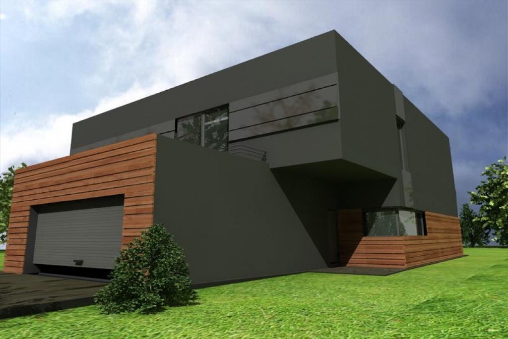 Indywidualny projekt nowoczesnego domu z płaskim dachem, J6