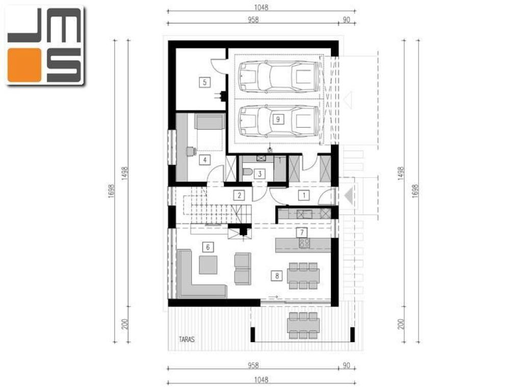Układ funkcjonalny nowoczesnego budynku jednorodzinnego