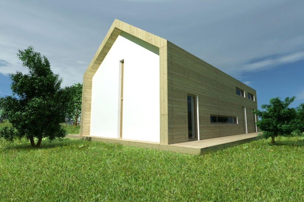 Prosty dom energooszczędny o cechach budynku pasywnego
